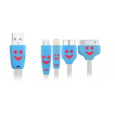 4 в 1 lighting, apple 30 pin, micro USB, micro B USB